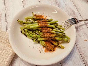 23 ugly french beans grilled